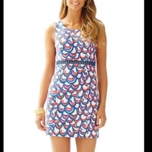 NWT Lilly Pulitzer Iggy shift dress in Gilty 4